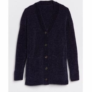 Gap Kids Chenille Navy Blue Cardigan